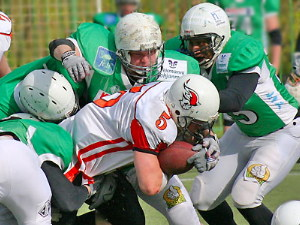 Crocodiles defense did their job well to stop the Patriots (c) Moscow Patriots