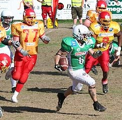 Crocodiles get away with a win in the scandinavian battle. (c) EFAF