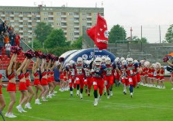 Back in the Eurobowl. Lions enter Eurobowl 2002 (c) Braunschweig Lions
