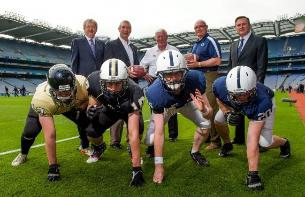 GAA, Penn St and UCF representatives at Croke Park. (c) IAFA/ GAA